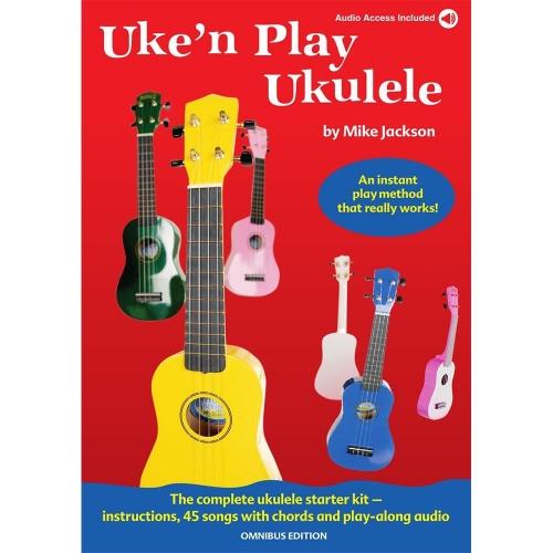 Uke'n Play Ukulele Play-Along Lesboek met 45 Liedjes