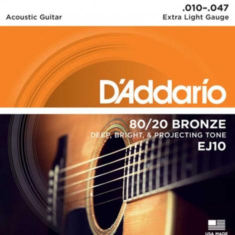 D'Addario EJ10 snaren voor staalsnarige akoestische gitaar