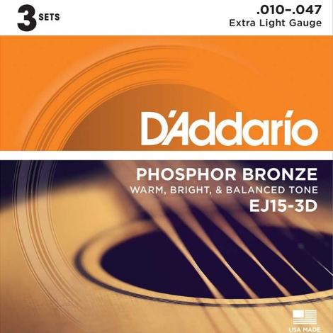 D'Addario EJ15-3D triopack