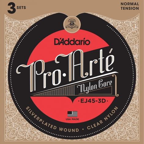D'Addario EJ45 3-Pack Klassieke Gitaarsnaren