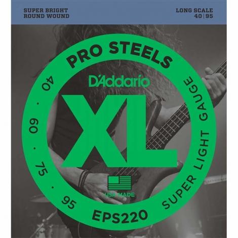 D'Addario EPS220 ProSteels Bassnaren (40-95)