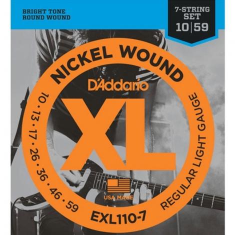 D'Addario EXL110-7 Elektrische Gitaarsnaren 7-Snarig (10-59)