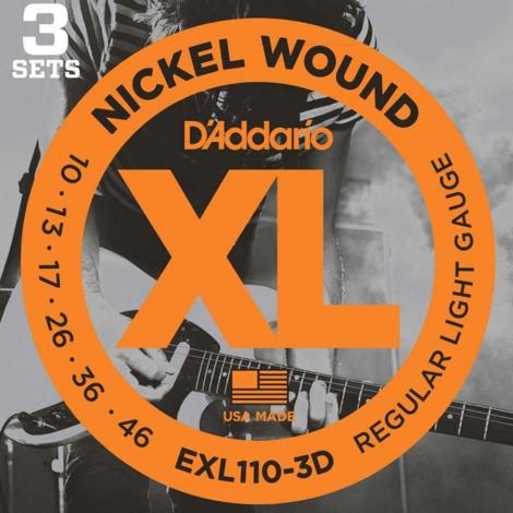 D'Addario EXL110-3D snaren