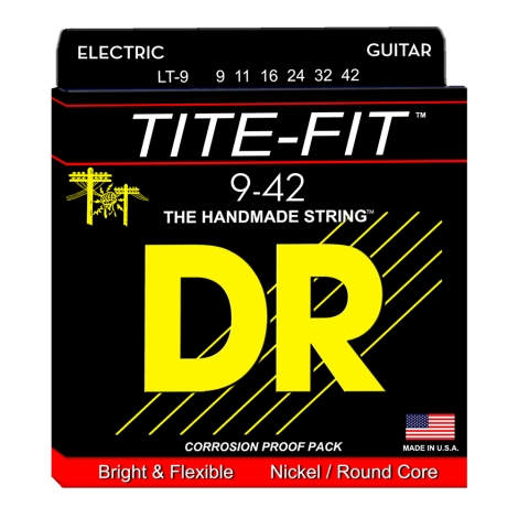 DR LT9 Tite-Fit Snaren voor Elektrische Gitaar (9-42) Light