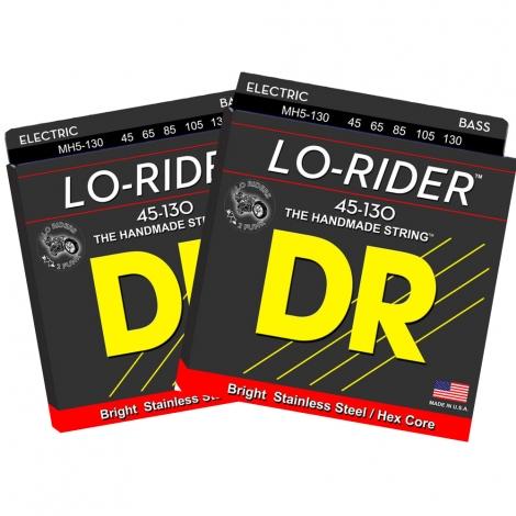 DR MH5-130 Lo-Rider Bassnaren 5-Snarig (45-130) 2-Pack