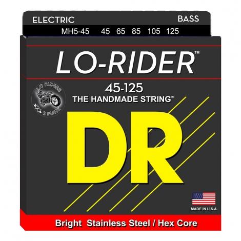 DR MH5-45 Lo-Rider Bassnaren 5-Snarig (45-125)