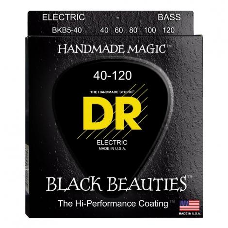 DR Strings BKB5-40 Black Beauties Coated Bassnaren 5-Snarig (40-120)