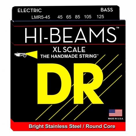 DR Strings LMR5-45 Super Long Scale Hi-Beam Bassnaren 5-Snarig (45-125)