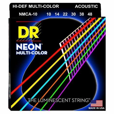 DR Strings MCA10 Neon Multicolor Akoestische Snaren (10-48), K3 Coating