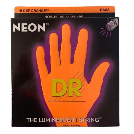DR Strings NOB45 Neon Orange Bassnaren Coated (45-105)