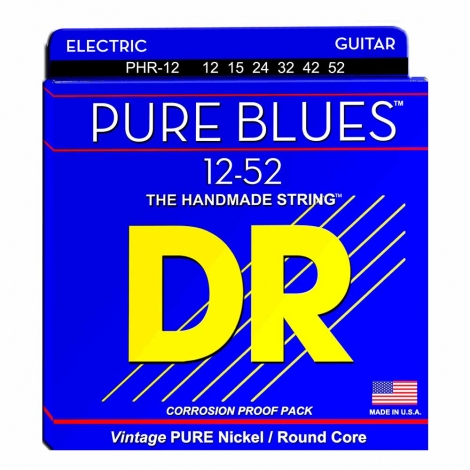 DR Strings PHR12 Pure Blues Elektrische Gitaarsnaren (12-52)