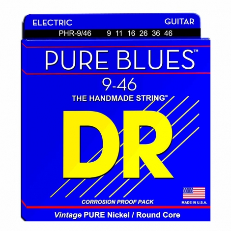 DR Strings PHR9/46 Pure Blues Elektrische Gitaarsnaren (9-46)