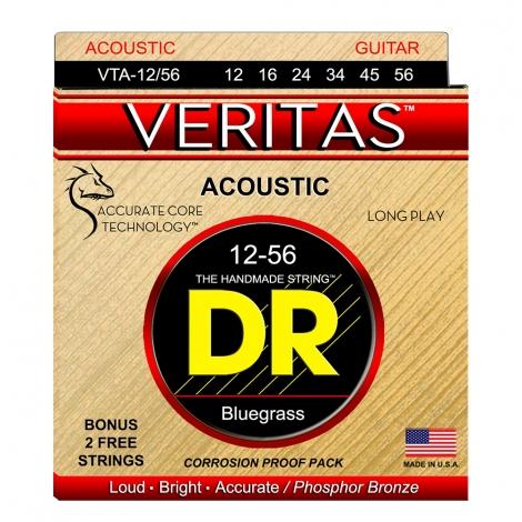 DR Strings VTA12/56 Veritas Bluegrass Gitaarsnaren (12-56)
