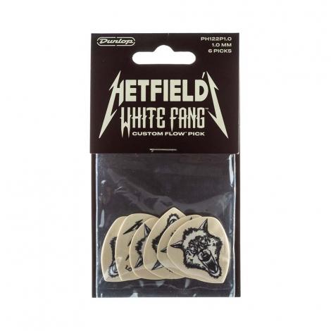 Dunlop PH122P100 Hetfield's White Fang 1.0mm Plectrum 6-Pack