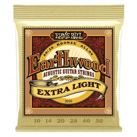 Ernie Ball 2006 Earthwood Akoestische Gitaarsnaren (10-50) Extra Light