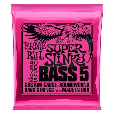 Ernie Ball 2824 Super Slinky Bassnaren 5-Snarig (40-125)