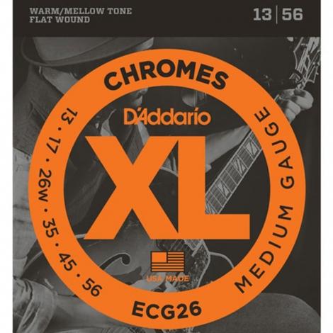 D'Addario ECG26 Flat Wound Chromes Snaren voor Elektrische Gitaar (13-56)