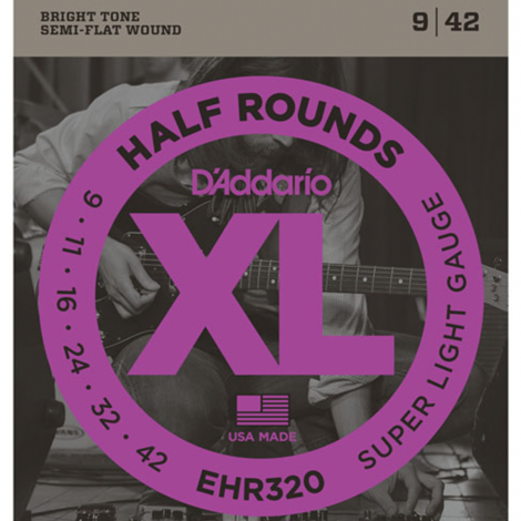 D'Addario EHR320 Half Round Snaren voor Elektrische Gitaar (9-42