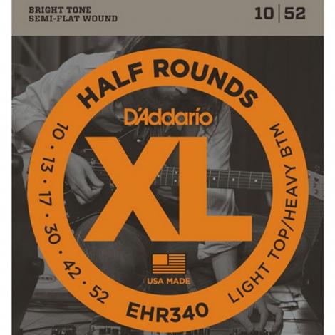 D'Addario EHR340 Half Round Snaren voor Elektrische Gitaar (10-52)