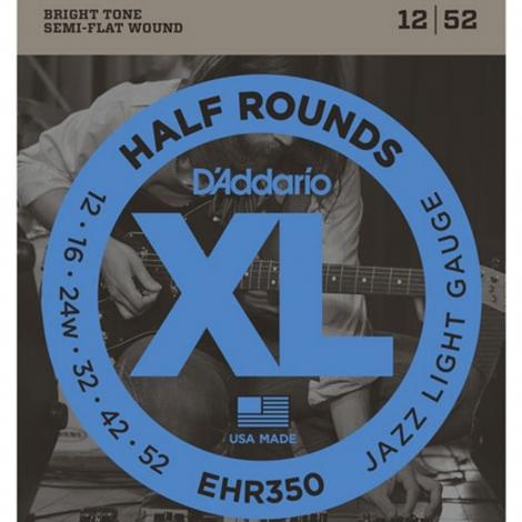 D'Addario EHR350 Half Round Snaren voor Elektrische Gitaar (12-52)