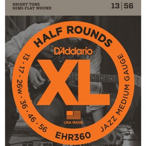 D'Addario EHR360 Half Round Snaren voor Elektrische Gitaar (13-56)