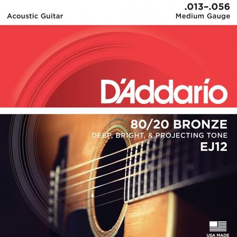 D'Addario EJ12 Bronze Westernsnaren (13-56)