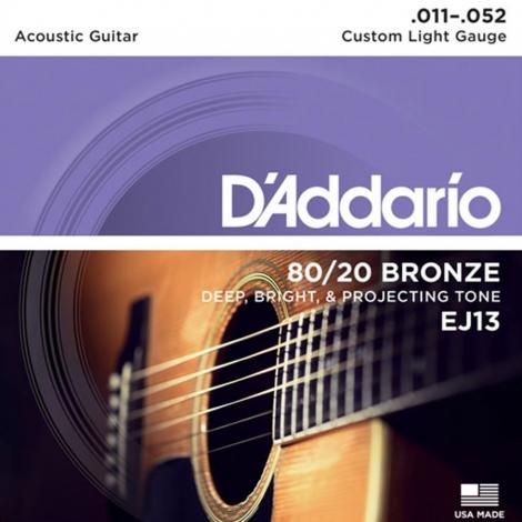 D'Addario EJ13 Bronzen Westernsnaren (11-52)