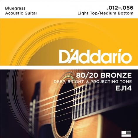D'Addario EJ14 Bronzen Bluegrass Westernsnaren (12-56)