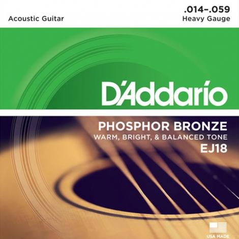 D'Addario EJ18 Phosphor Bronzen Westernsnaren (14-59)