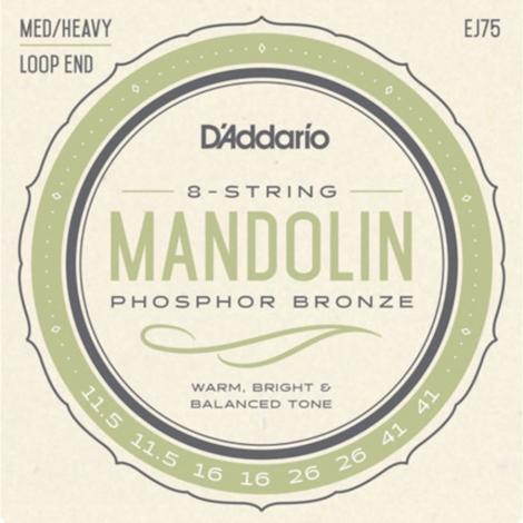 D'Addario EJ75 Mandolinesnaren (11.5-41)
