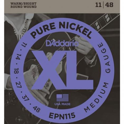 D'Addario EPN115 Pure Nickel Snaren voor Elektrische Gitaar (11-48)