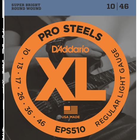 D'Addario EPS510 ProSteels Snaren voor Elektrische Gitaar (10-46)
