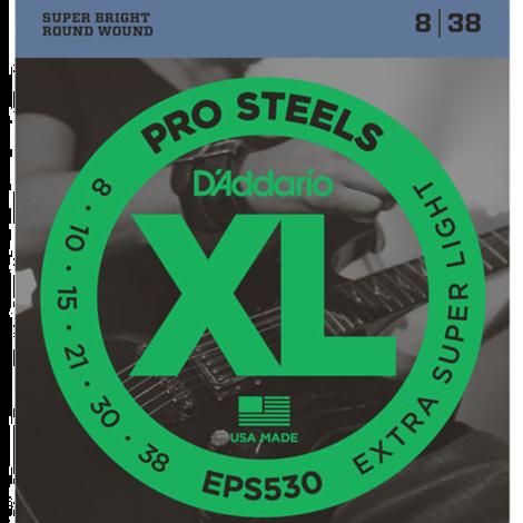 D'Addario EPS530 ProSteels Snaren voor Elektrische Gitaar (8-38)