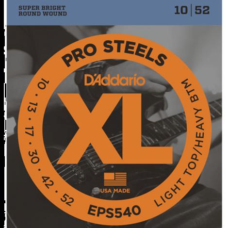 D'Addario EPS540 ProSteels Snaren voor Elektrische Gitaar (10-52)