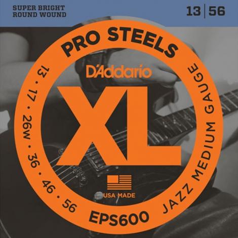 D'Addario EPS600 ProSteels Jazz Snaren voor Elektrische Gitaar (13-56)