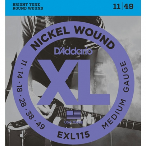 D'Addario EXL115 Snaren voor Elektrische Gitaar (11-49)