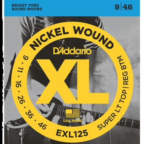D'Addario EXL125 Nickel Wound Snaren voor Elektrische Gitaar (9-46)