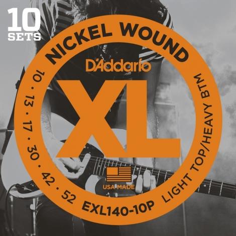 D'Addario EXL140-10P Snaren voor Elektrische Gitaar (10-52) 10-Pack