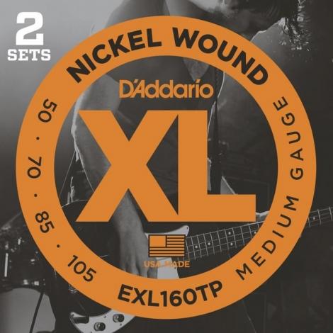 D'Addario EXL160TP Bassnaren Long Scale (50-105) 2-Pack