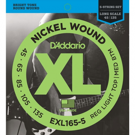 D'Addario EXL165-5 Bassnaren Long Scale (45-135)