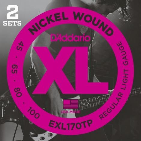 D'Addario EXL170TP Bassnaren Long Scale (45-100) 2-Pack
