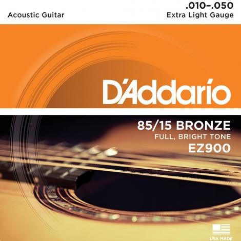 D'Addario EZ900 Akoestische / Western Snaren Extra Light (10-50)