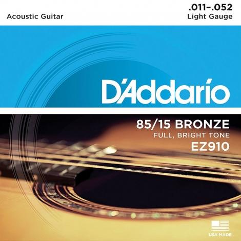 D'Addario EZ910 Bronzen Akoestische Snaren Light (11-52)