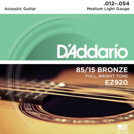 D'Addario EZ920 Westernsnaren Bronze Medium (12-54)