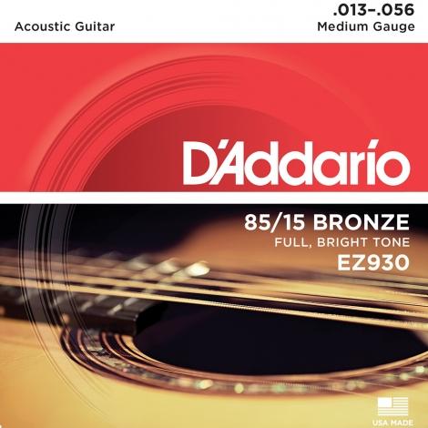 D'Addario EZ930 Snaren voor Akoestische Gitaar - Medium (13-56)