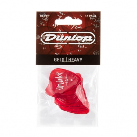 dunlop gel heavy plectrum 12-pack