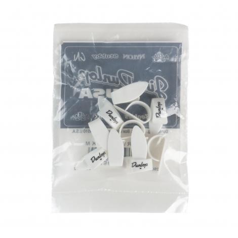 Dunlop 9002R Plastic Duimplectrum Medium Wit 12-Pack