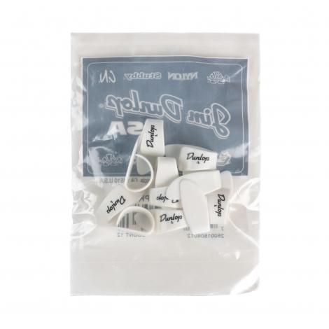 Dunlop 9003R Plastic Duimplectrum Large Wit 12-Pack