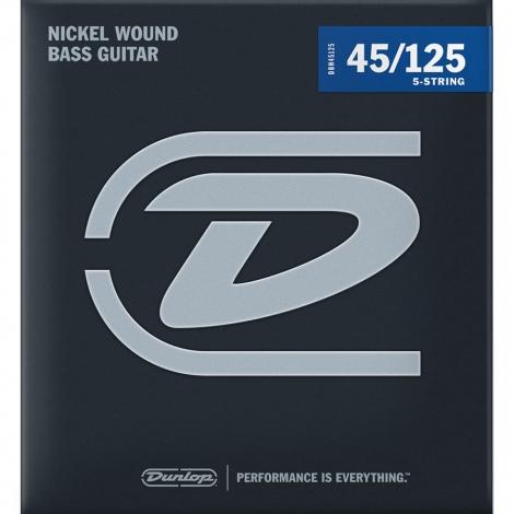 Dunlop DBN45125 Bassnaren Long Scale 5-Snarig (45-125)
