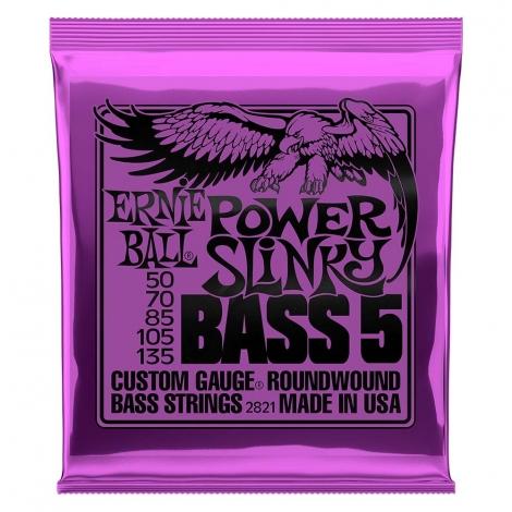 Ernie Ball 2821 Power Slinky Snaren voor 5-Snarige Basgitaar (50-135)